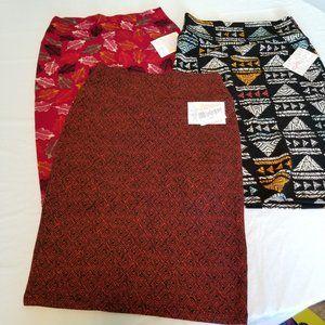 Lularoe Cassie Pencil Skirt Bundle Size Small NWT